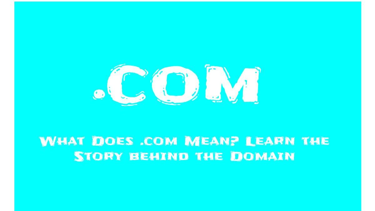 What is .Com